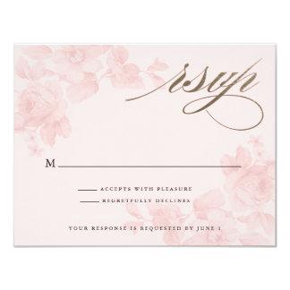 Floral Faux Foil Response card   RSVP card