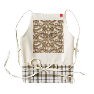Floral, faux,gold,diamond,design,vintage,pattern,g zazzle HEART apron