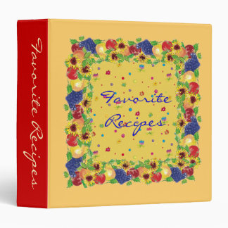 Floral Favorites Recipes binder