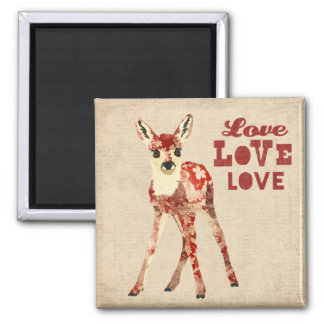 Floral Fawn Love Magnet