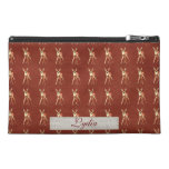 Floral Fawn Personalized Travel Accessory Bag