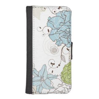 Floral femenino abstracto lindo billetera para iPhone 5