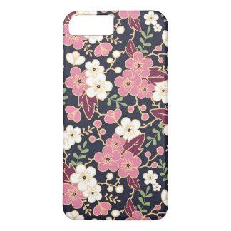 Floral femenino del estampado de plores moderno funda iPhone 7 plus