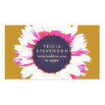 Floral femenino del logotipo colorido lindo del tarjeta de visita