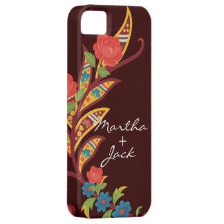 Floral festivo iPhone 5 carcasas