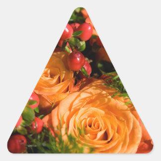 Floral festivo calcomanías de triangulos