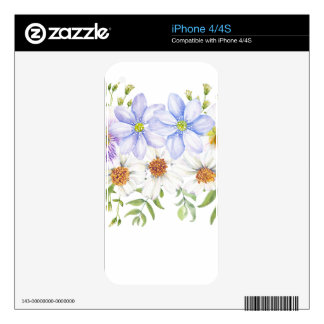 Floral Field Bouquet iPhone 4S Skins