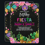 "Floral Fiesta Birthday Party Mexican Flower Invite<br><div class=""desc"">Fiesta Birthday Invitation 