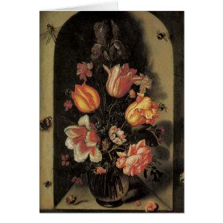 Floral Fine Art Roses Tulips Butterflies Card