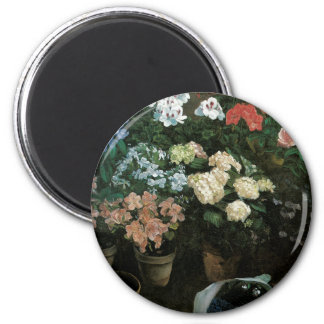 Floral Fine Art with Pansies Magnet