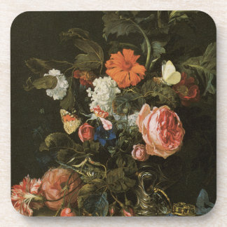 Floral Fine Art with Roses Cork Coasters