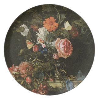Floral Fine Art with Roses Plate