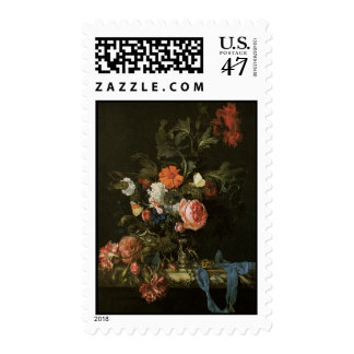 Floral Fine Art with Roses Postage