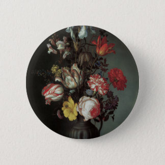 Floral Fine Art with Roses Tulips Irises Button