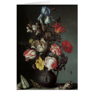 Floral Fine Art with Roses Tulips Irises Card