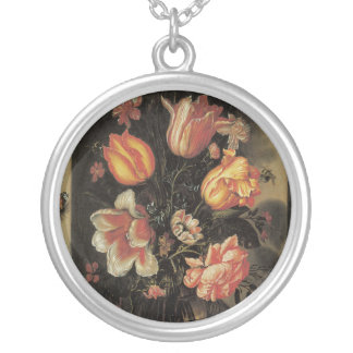 Floral Fine Art with Tulips Necklace
