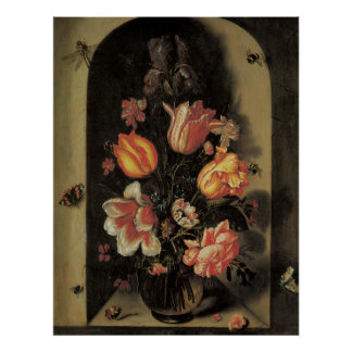 Floral Fine Art with Tulips Poster