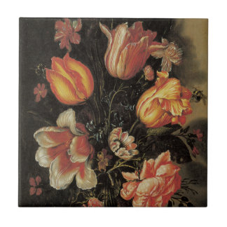 Floral Fine Art with Tulips Tiles