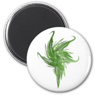 Floral first 2 inch round magnet