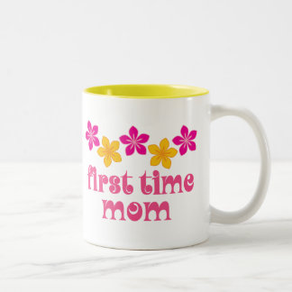Floral First Time Mom Coffee Mugs