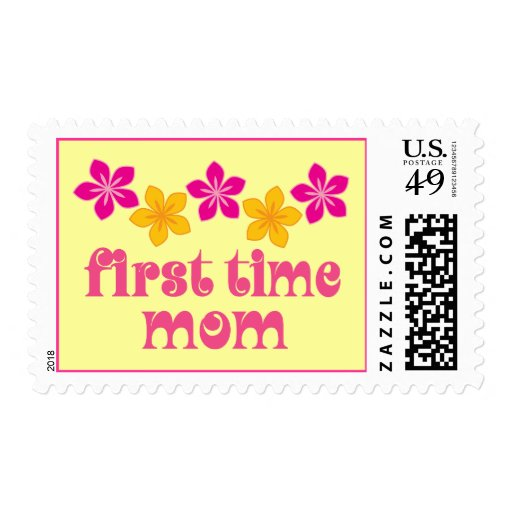 Floral First Time Mom Stamp