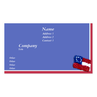 Floral Flag Double-Sided Standard Business Cards (Pack Of 100)