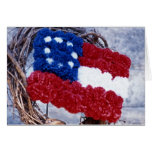 Floral Flag Greeting Card