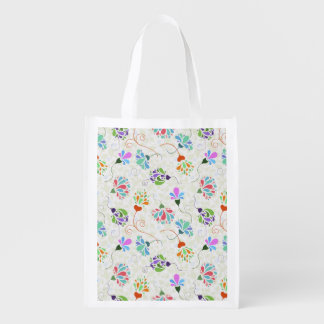 Floral Flamboyance Grocery Bag