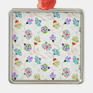 Floral Flamboyance Metal Ornament