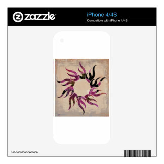 Floral Flames Decals For iPhone 4S