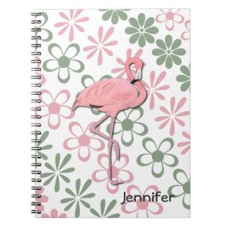 Floral Flamingo Notebook