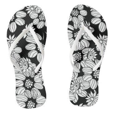 Beach Themed Floral flip flops