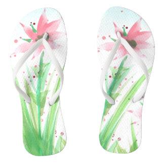 Floral Flippers Flip Flops