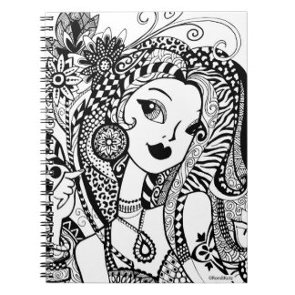 Floral & Flirty Color Your Own Zendoodle Notebook