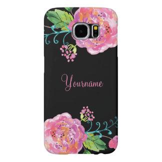 Floral Floral Monograms Samsung Galaxy S6 Case