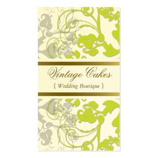 Floral Flourish Lime Green Custom Profile Card