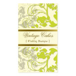 Floral Flourish Lime Green Custom Profile Card Business Card Template