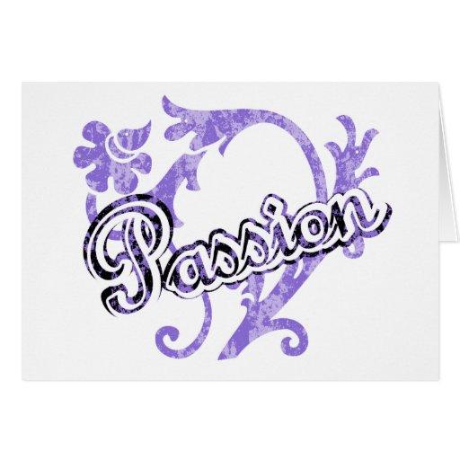 Floral Flourish Passion Greeting Card