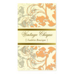 Floral Flourish Sweet Peach Custom Profile Card Double-Sided Standard Business Cards (Pack Of 100)