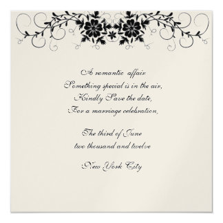 Floral Flourish Wedding Save the date Card