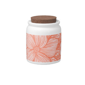 Floral Flow- Melon- Candy Jars