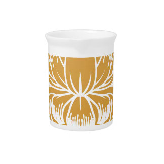 Floral Flower Abstract  Design Concept Icon Drink Pitcher