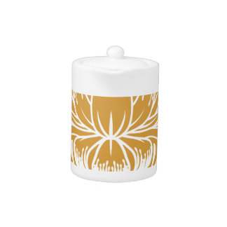 Floral Flower Abstract  Design Concept Icon Teapot