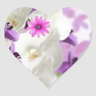 floral flower blossoms vines orchids  plant bloom heart sticker