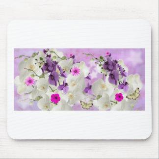 floral flower blossoms vines orchids  plant bloom mouse pad