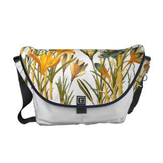 Floral Flower Crocus Rickshaw Messenger Bag