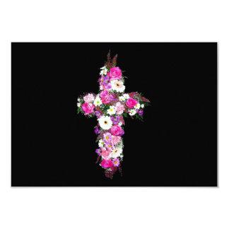 Floral/Flower Cross Card