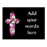 Floral/Flower Cross Postcards