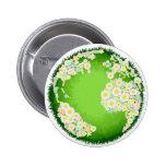 Floral flower globe concept pins