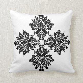 Floral Flower Mandala Throw Pillow